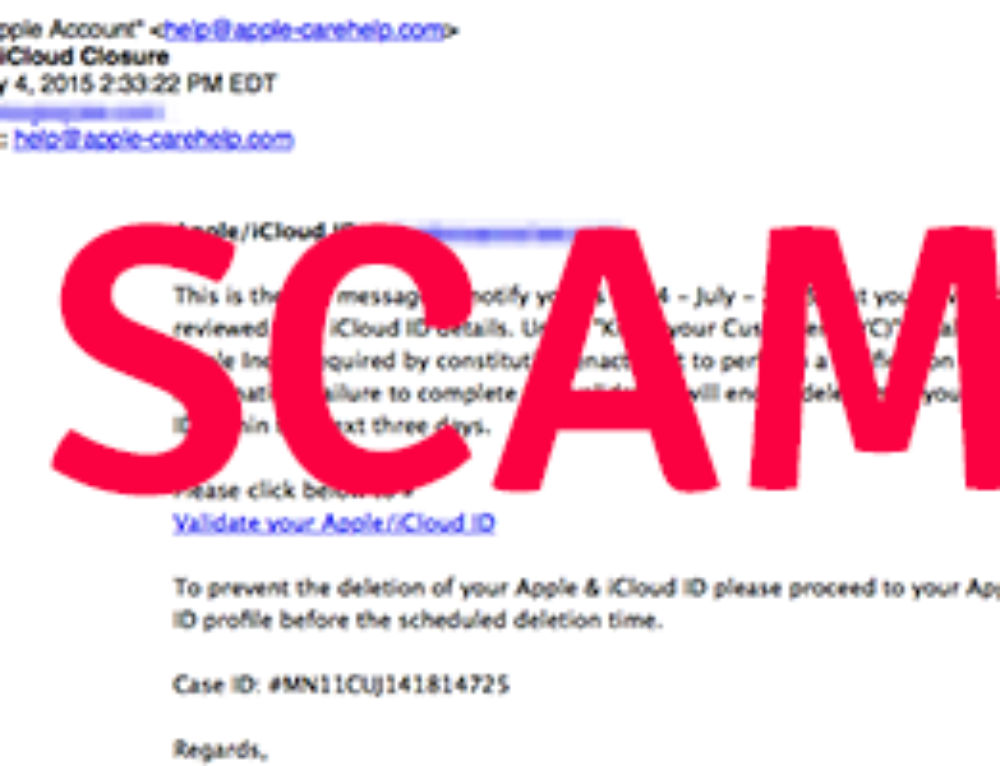 Account Security Alert: Apple Phishing Continues