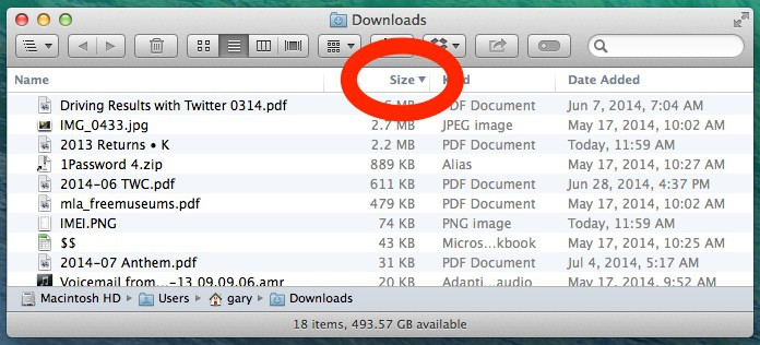 Sort By File Size